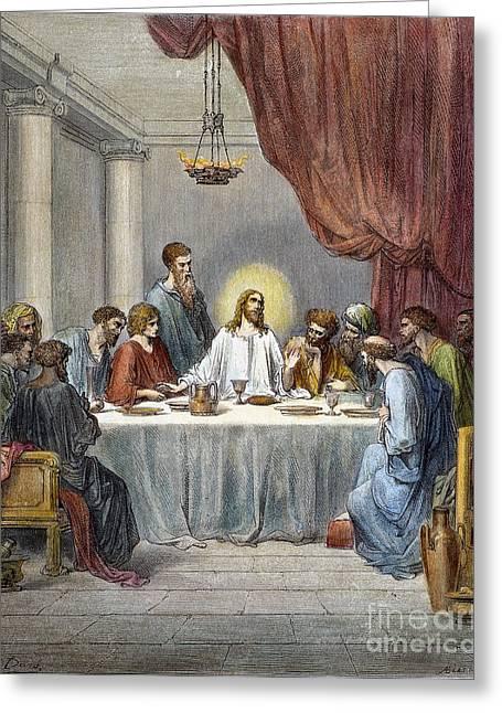 Last Supper Photographs Greeting Cards - DorÉ: Last Supper Greeting Card by Granger