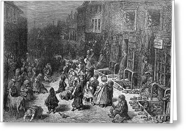 Dore Greeting Cards - DorÉ: London, 1872 Greeting Card by Granger