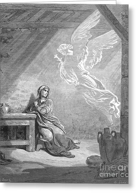 Incarnation Greeting Cards - DorÉ: The Annunciation Greeting Card by Granger