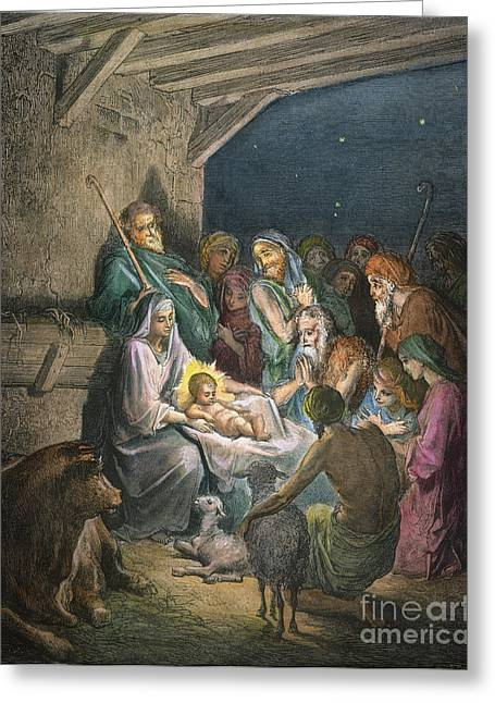 Saint Joseph Greeting Cards - DorÉ: The Nativity Greeting Card by Granger