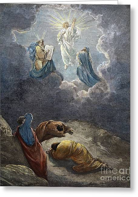 Prophet Moses Greeting Cards - DorÉ: Transfiguration Greeting Card by Granger