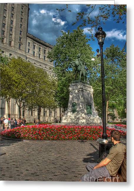 Protesters Greeting Cards - Dorchester Square Boer War Memorial Greeting Card by Lee Dos Santos