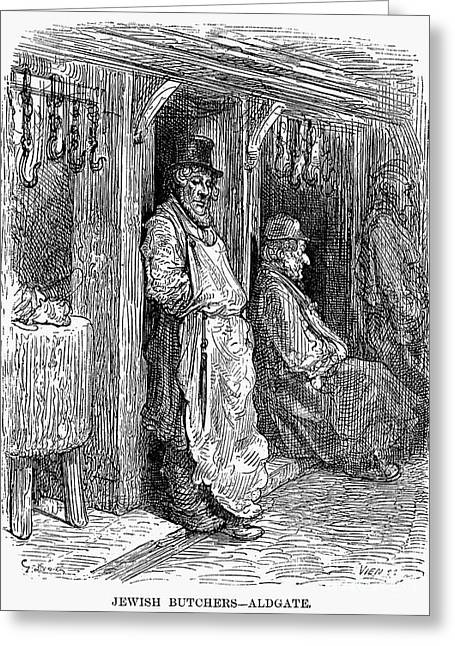 Dore Greeting Cards - Dore: Jewish Butcher, 1872 Greeting Card by Granger