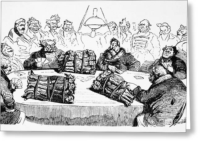Proprietor Greeting Cards - Dore: Russian Cartoon, 1854 Greeting Card by Granger