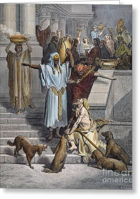 Dore Greeting Cards - Dore: St. Lazarus Begging Greeting Card by Granger