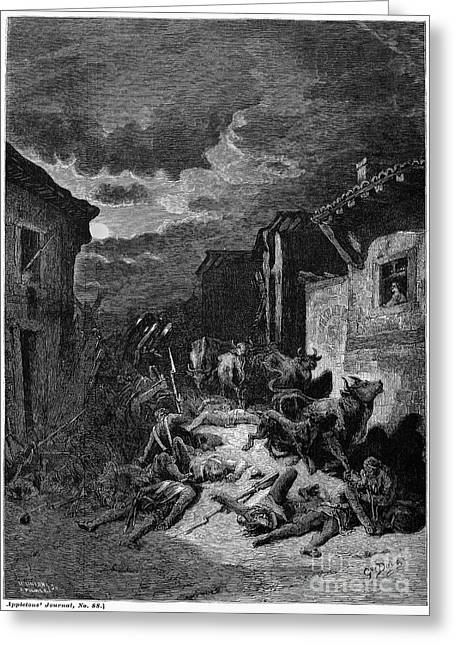 Dore Greeting Cards - DORE: WAR, 19th CENTURY Greeting Card by Granger