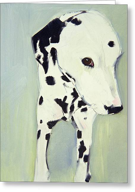 White Dog Greeting Cards - Dorothy 2 Greeting Card by Sally Muir