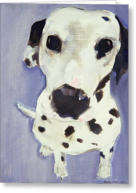Dalmatian Greeting Cards - Dorothy Greeting Card by Sally Muir