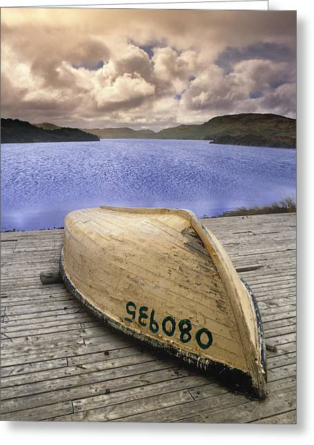 Tickle Greeting Cards - Dory,tickle Cove, Newfoundland, Canada Greeting Card by Darwin Wiggett