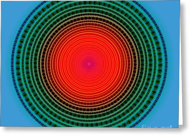 Astral Greeting Cards - Dots X-ray Greeting Card by Atiketta Sangasaeng