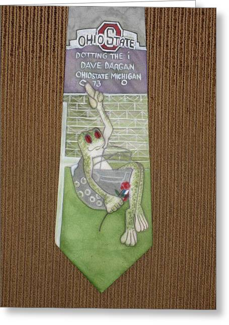 Amphibians Tapestries - Textiles Greeting Cards - Dotting the i Greeting Card by David Kelly