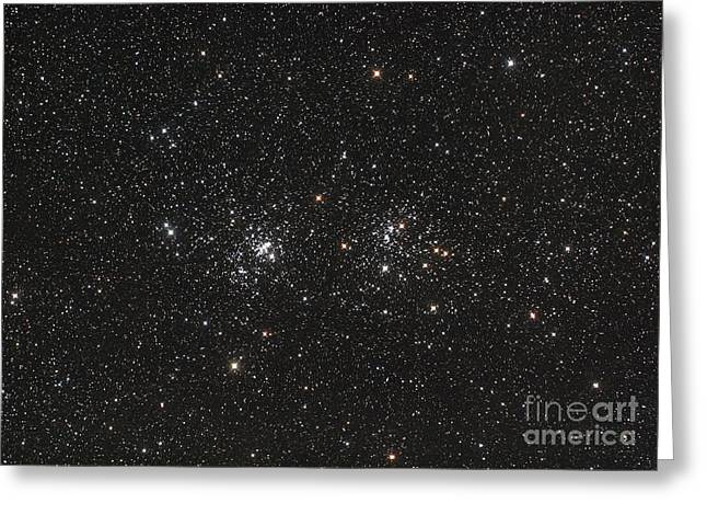 Double Cluster Greeting Cards - Double Cluster In Perseus Ngc 869 Greeting Card by Philip Hart