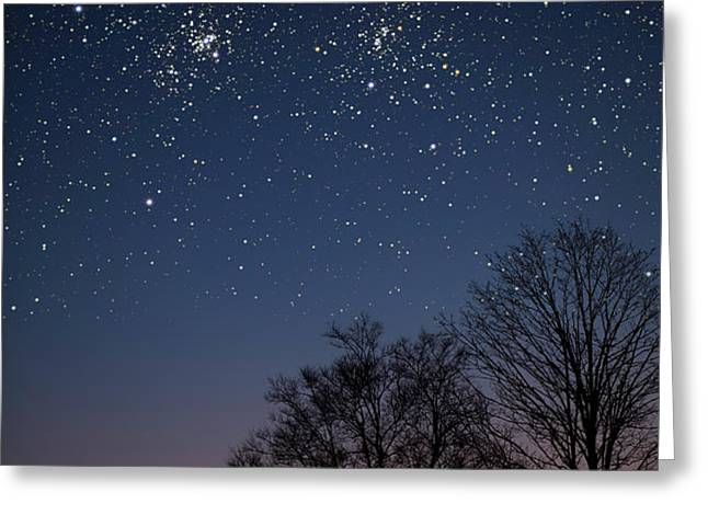 Double Cluster Sunset Greeting Card by Charles Warren