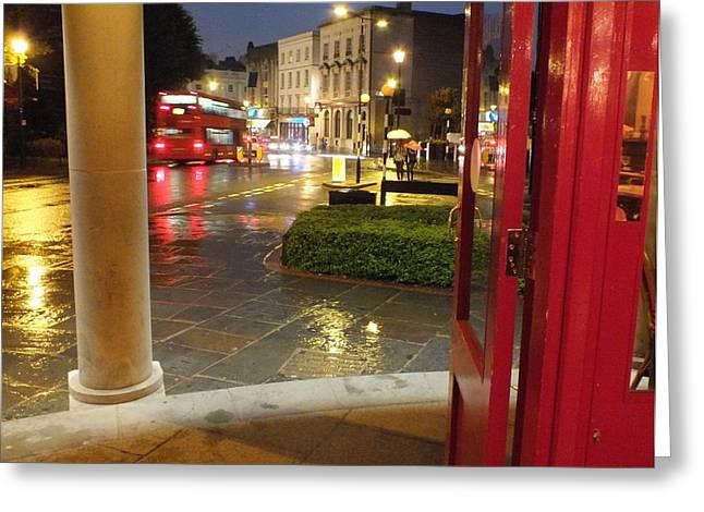 Double Decker Blur II Greeting Card by Anna Villarreal Garbis