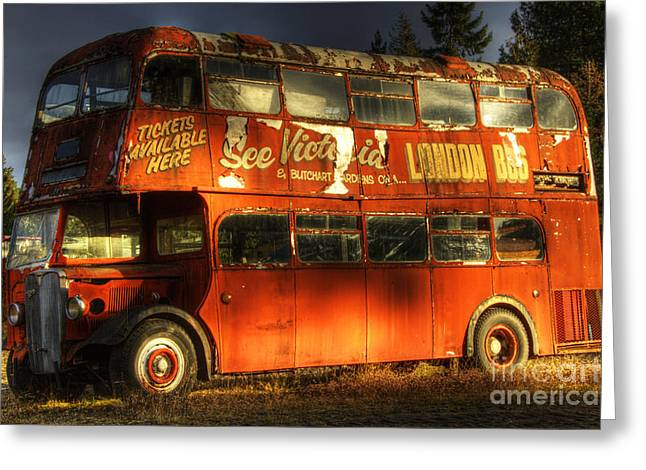 Double Decker Greeting Cards - Double Decker Greeting Card by Bob Christopher