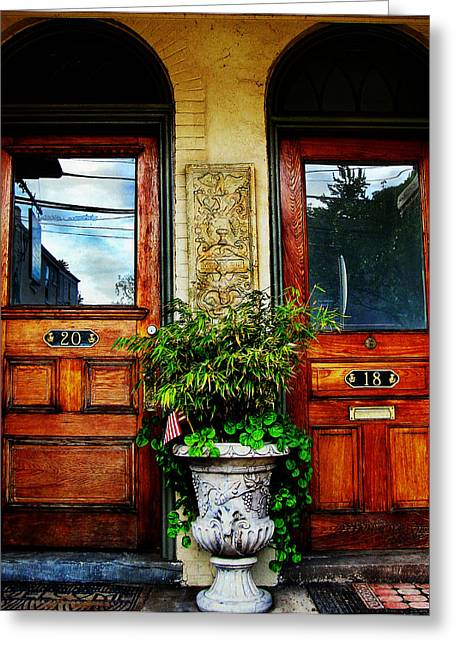Original Art Photographs Greeting Cards - Double Doors Greeting Card by Colleen Kammerer