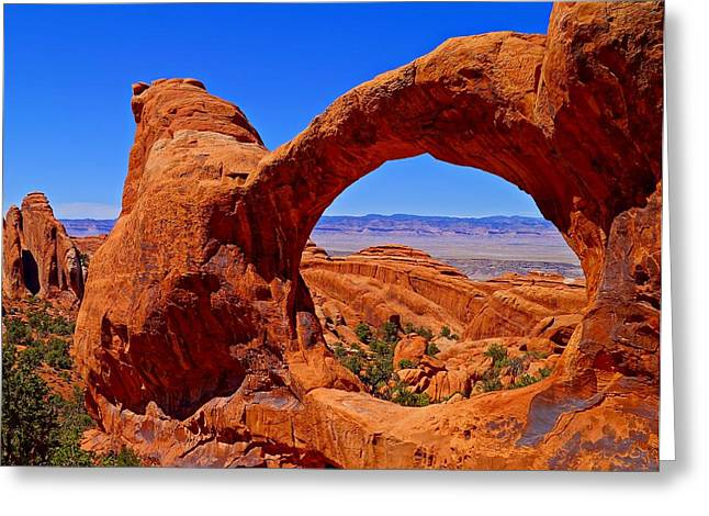 Double Greeting Cards - Double O Arch Landscape Greeting Card by Scott McGuire