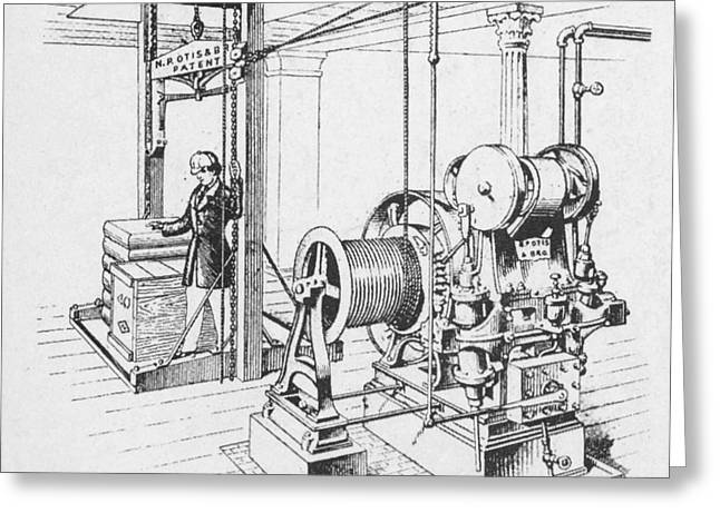 Elisha Graves Greeting Cards - Double Oscillating Steam Engine Greeting Card by Science Source