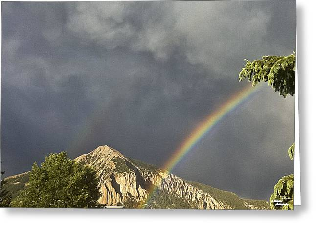 Double Rainbow Greeting Cards - Double Promise Greeting Card by Teresa Dixon