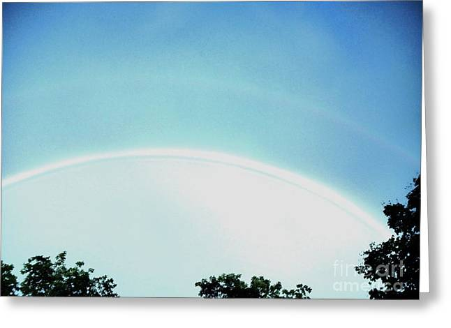 Double Rainbow After The Storm Greeting Card by Marsha Heiken