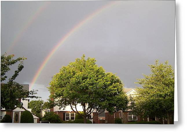 Double Rainbow Greeting Cards - Double rainbow Greeting Card by Suhas Tavkar