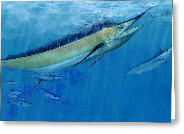 Kevin Brant Greeting Cards - Double Up Marlins Greeting Card by Kevin Brant
