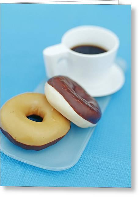 Doughnuts Greeting Card by David Munns