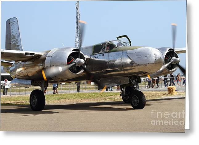 Douglas A26B Military Aircraft 7d15748 Greeting Card by Wingsdomain Art and Photography