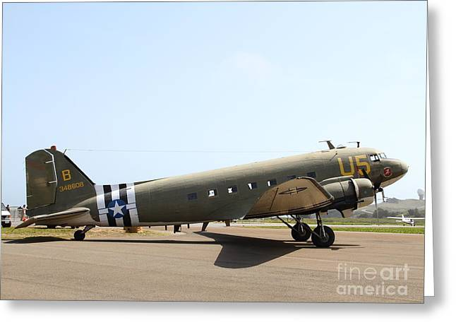 Dc-3 Greeting Cards - Douglas C47 Skytrain Military Aircraft 7d15788 Greeting Card by Wingsdomain Art and Photography