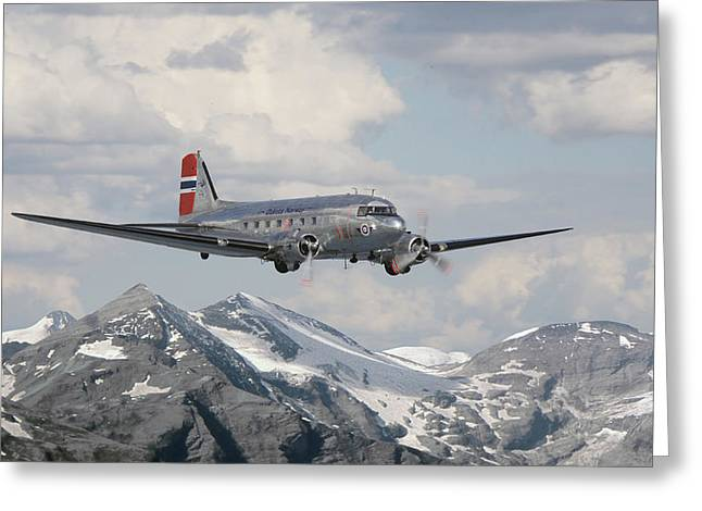 Dc3 Greeting Cards - Douglas DC3 - Dakota Greeting Card by Pat Speirs