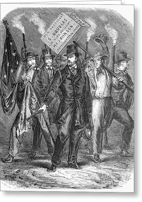 Douglas: Election Of 1860 Greeting Card by Granger