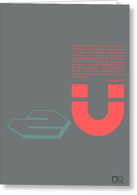 Douglas Martin Poster Greeting Card by Naxart Studio