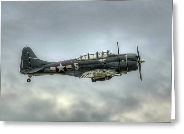 Douglass Greeting Cards - Douglass SBD Dauntless  Greeting Card by Gerry Mann
