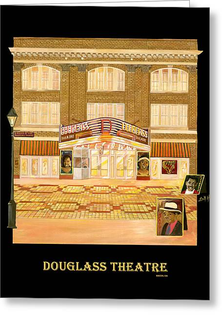 Douglass Greeting Cards - Douglass Theatre Greeting Card by Leah Holland