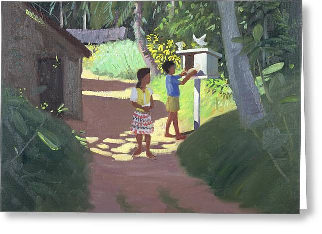 Sri Lanka Greeting Cards - Dovecote Greeting Card by Andrew Macara