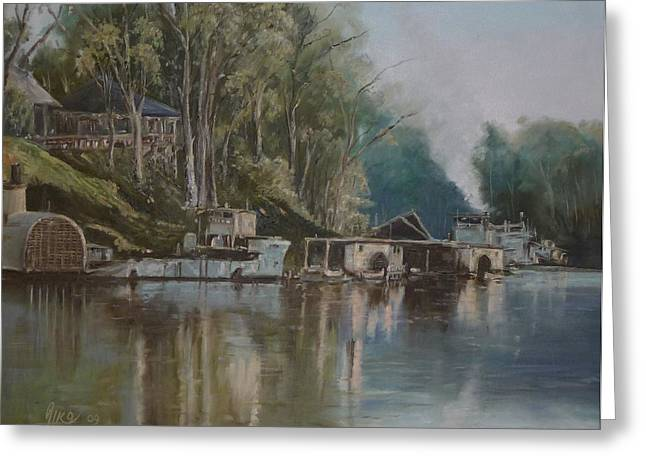 Diko P Greeting Cards - Down By The River Greeting Card by Diko