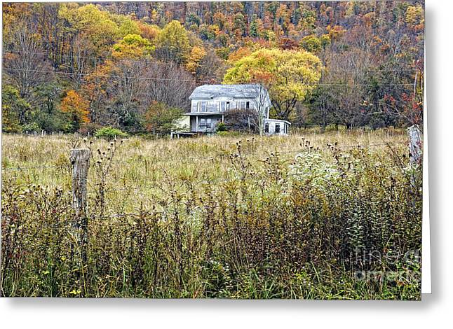 Kathleen Hill Greeting Cards - Down in a West VA Valley Greeting Card by Kathleen K Parker