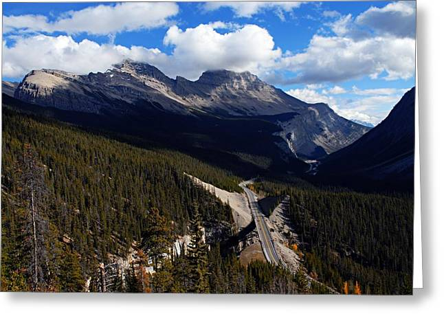 Mountain Road Greeting Cards - Down in the Valley Greeting Card by Larry Ricker