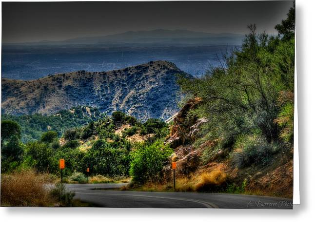 Rincon Greeting Cards - Down Into the Valley Greeting Card by Aaron Burrows