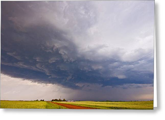 Supercell Greeting Cards - Down The Road Greeting Card by Chris  Allington