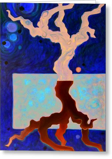 Viticulture Paintings Greeting Cards - Down Under Greeting Card by Angela Kallsen