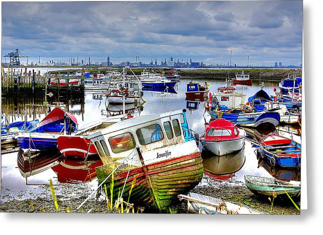Down With The Boats Greeting Card by Trevor Kersley