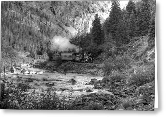 John Wayne Prints Greeting Cards - Downhill from Silverton Greeting Card by Ken Smith