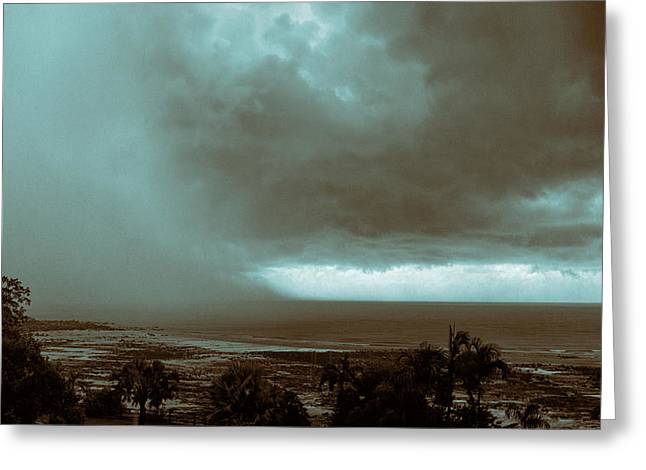 Monsoon Greeting Cards - Downpour Greeting Card by Douglas Barnard