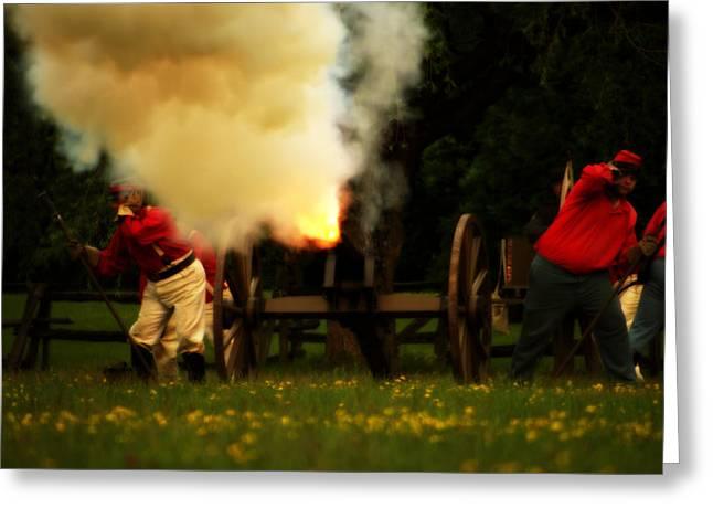 Downrange Of The Cannon Greeting Card by Jonathan Bateman