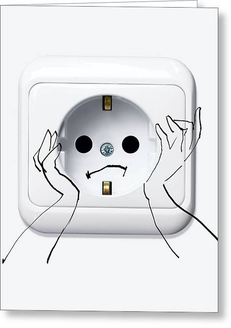Problem Greeting Cards - Downsides To Electricity, Artwork Greeting Card by Smetek