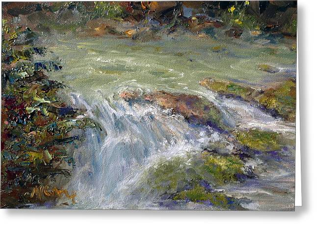 Downstream Greeting Card by Marie Green