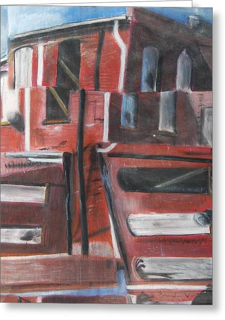 Downtown Pastels Greeting Cards - Downtown Greeting Card by Amanda Funkhouser