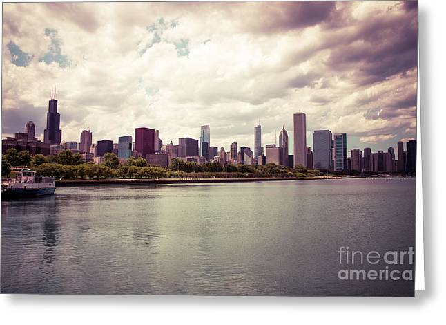 Trump Hotel Greeting Cards - Downtown Chicago Skyline Lakefront Greeting Card by Paul Velgos