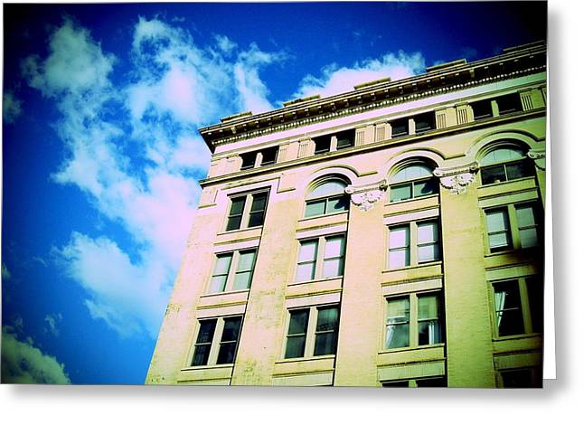 Urban Buildings Greeting Cards - Downtown Greeting Card by Chris Charles